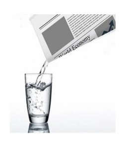 신문지 물붙기    Newspaper Water Prop